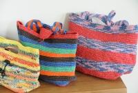 Outros modelos de bolsas plásticas de crochê