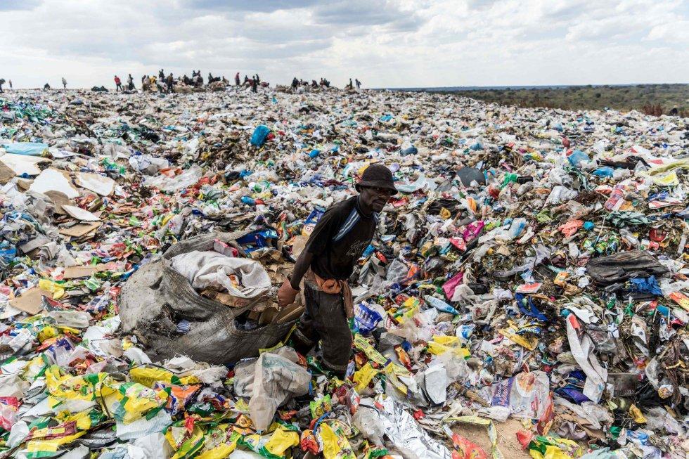 separador de lixo no zimbábue