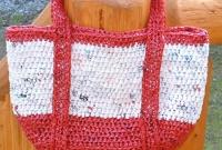 Bolsa branca e vermelha
